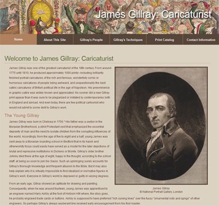 James Gillray: Caricaturist